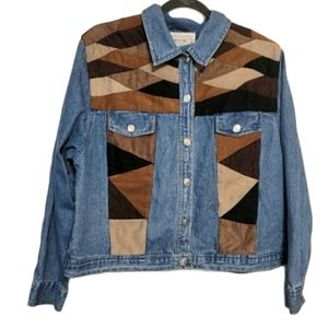 Vintage Tantrums Jeans Jacket With Faux Suede